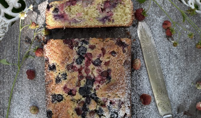 Sourdough Summer berries slice