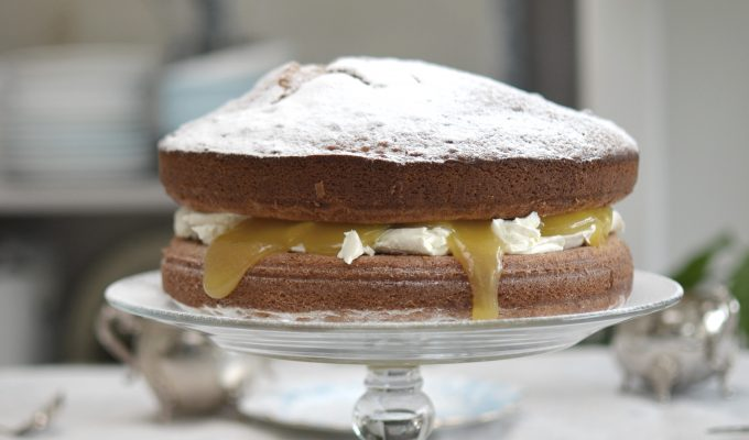 Sourdough Lemon Curd Cake