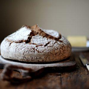 sourdough starter loaf