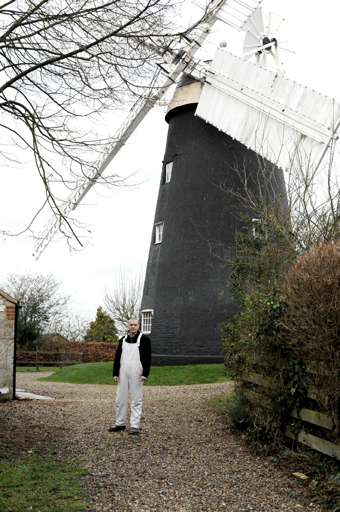 Fosters Mill built in 1855 with miller Jonathan Cook, in Cambridgeshire