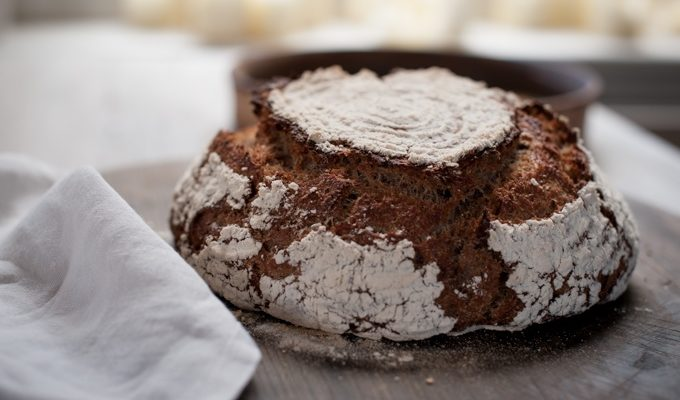 Wholemeal Sourdough boule 680 landscape