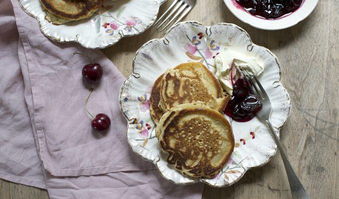 Slider cherry pancakes - 680
