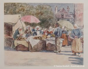 1802 – Selling bread in Brittany - France