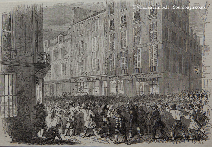1846 – Riot outside a boulangerie – Paris