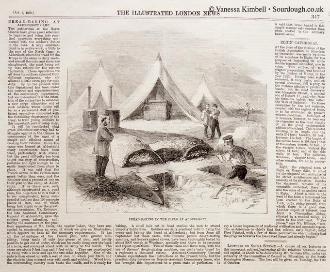1859 – Military bread making in Aldershot – UK