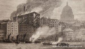 1872 – London mill fire – UK