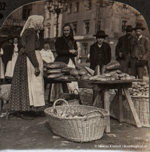 1900 - Selling bread - Poland