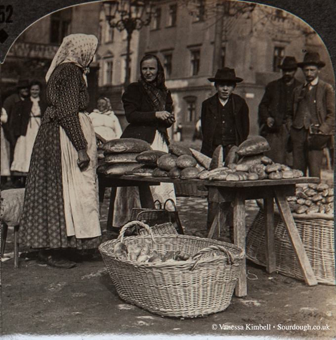 1900 - Selling bread - Poland