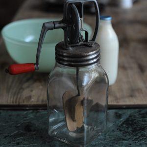 Butter Churner Whisk Jar