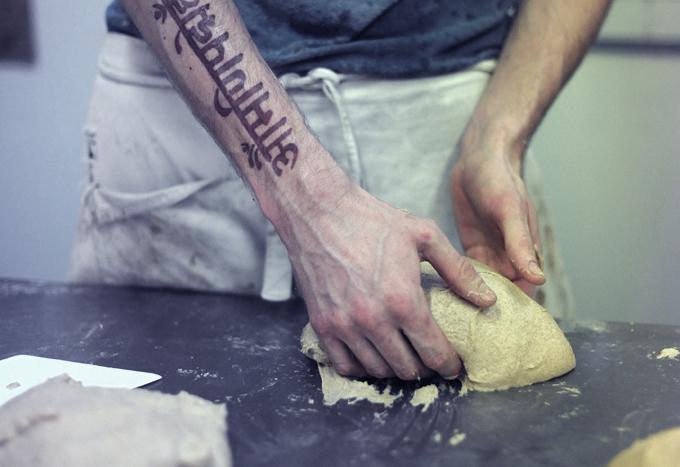 E5 founder Ben Mackinnon shaping dough