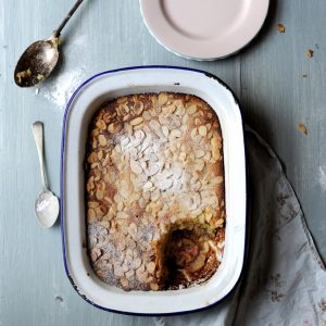 Sourdough Rhubarb Pudding
