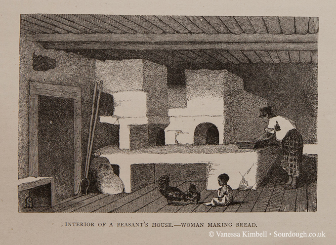 interior of a peasants house
