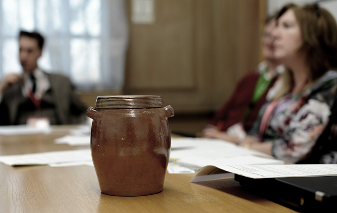 sourdough starter in a meeting with DEFRA