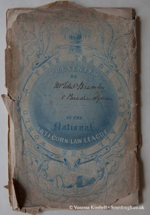 1842 – Corn law booklet – UK