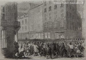 1846 – Riot outside a boulangerie – Paris