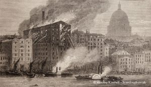 1872 – London mill fire – UK