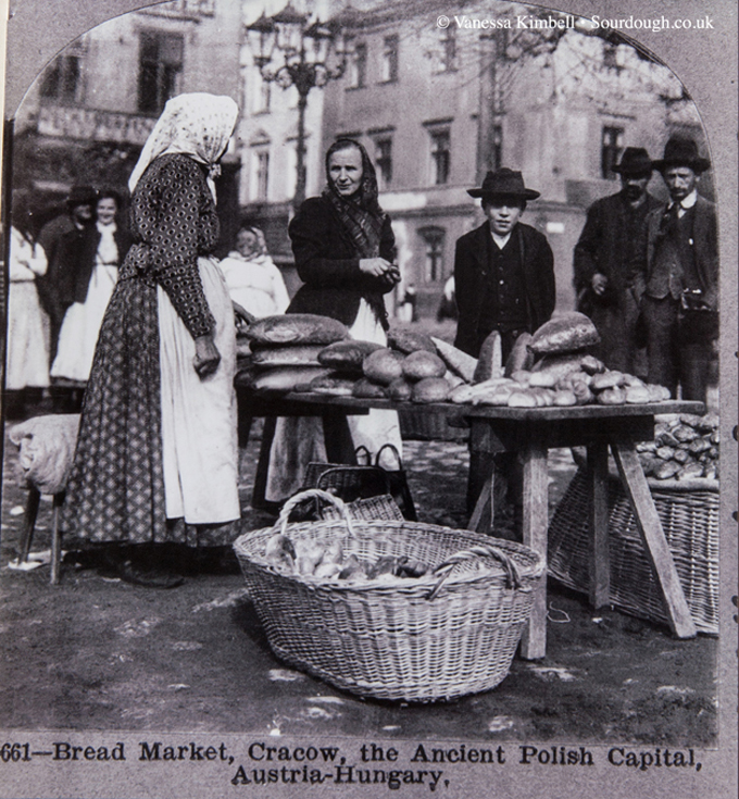 1901  – Selling bread in Cracow – Austria-Hungary
