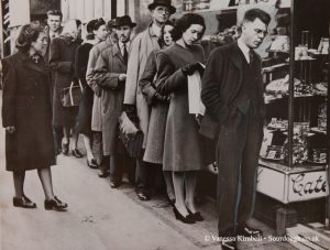 1947 - War rationing – London