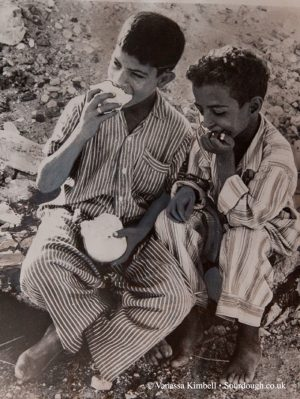 1956 - Children with bread – Egypt