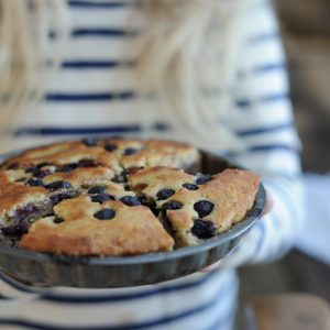 Fermented buttermilk & blueberry cake