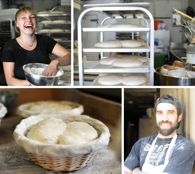 collage of sourdough and bakers