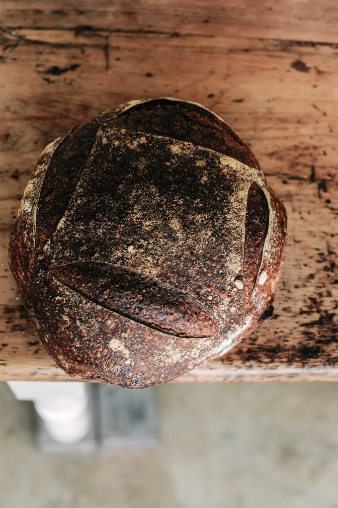 Large baked sourdough