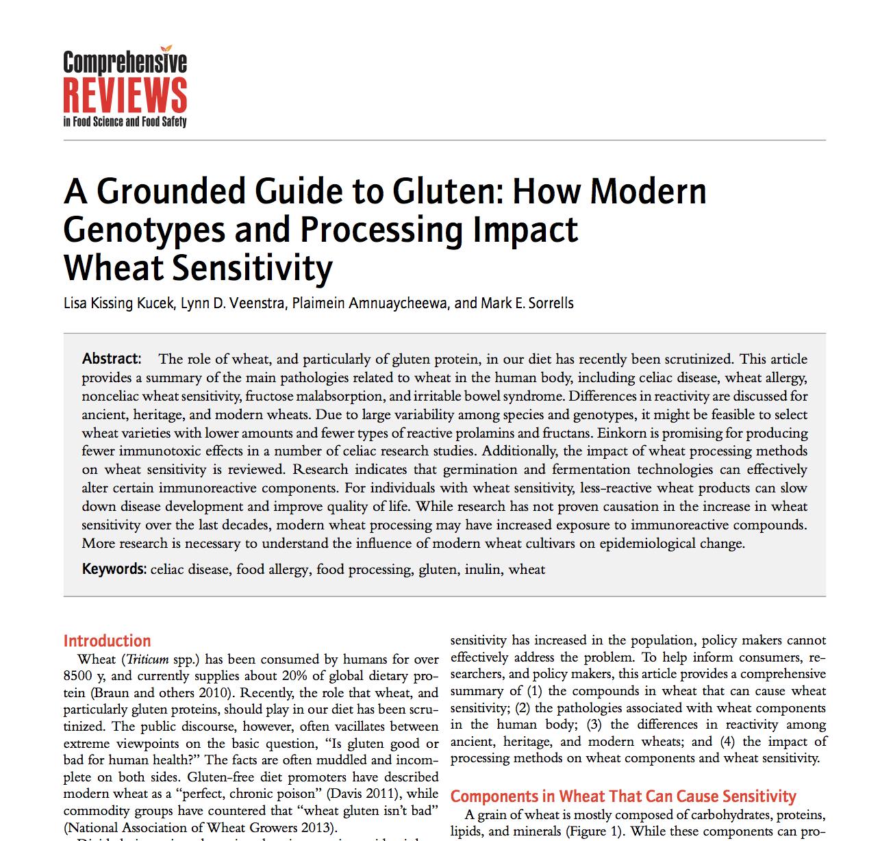 Sourdough fermentation reduced gluten toxicity