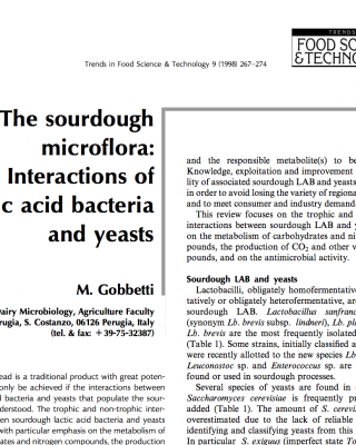 Sourdough microflora: Interactions of lactic acid bacteria and yeasts