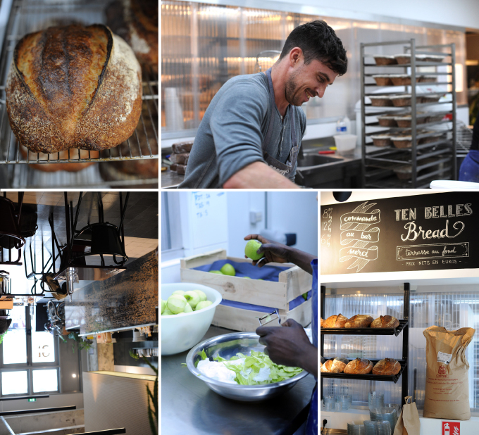 montage of photos from ten belles bakery
