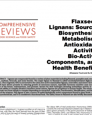 Flaxseed lignans and its use in sourdough bread