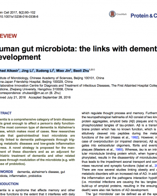 Gut microbiota and dementia