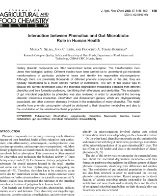 Polyphenols and the gut micro biome