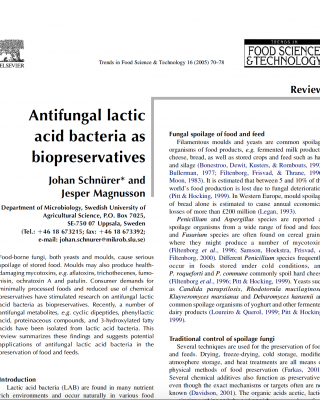 Lactic acid bacteria and shelf life