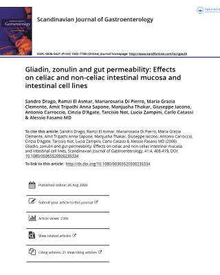 gliadin and zonulin