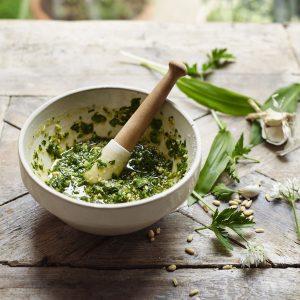 Seasonal Homemade Pesto