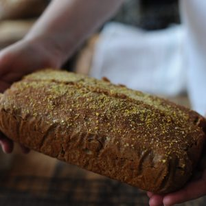 Einkorn tin loaf