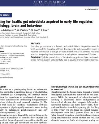 Neonatal development of gut microbiota