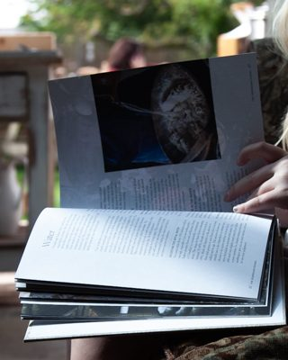 child reading the sourdough club book