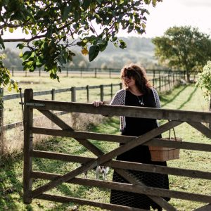 vanessa opening a gate