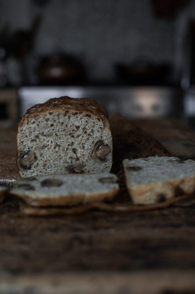 Sourdough mushroom bread