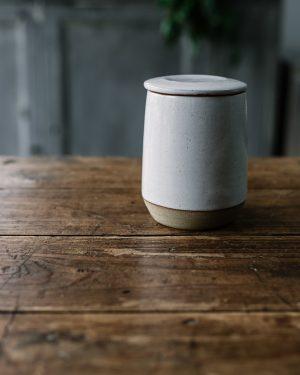 Sourdough Starter Jar White