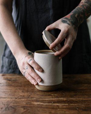 Pottery West Sourdough Starter pot