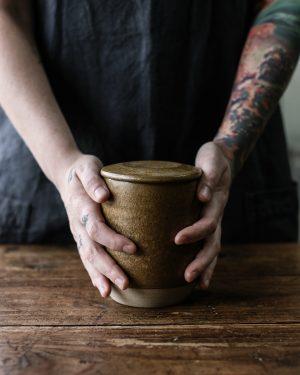 Sourdough Starter Jar Ochre