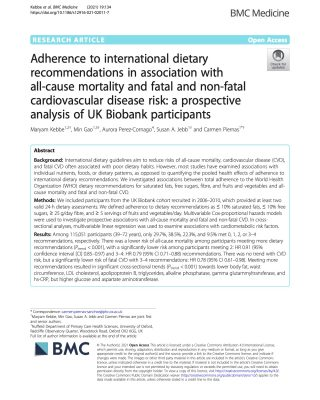 Diet and CVD